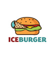 ice burger concept vector image