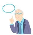 Professor Thinking with White Bubble vector image
