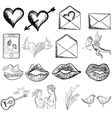 Valentines day sketch vector image