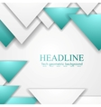 Abstract turquoise triangles corporate vector image vector image