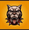 angry dog pitbull logo mascot