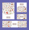 art studio pattern studying in art-school vector image vector image
