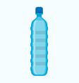 big blue plastic bottle of fresh potable water vector image vector image