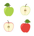 bright set colorful half and whole of vector image vector image