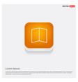 brochure flyer icon orange abstract web button vector image