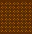 brown repeating heart background pattern vector image vector image
