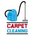 carpet cleaning service vector image