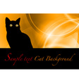 cat black background vector image vector image