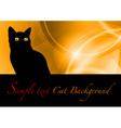 cat black background vector image