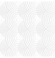 cellular pattern with thin lines of circles vector image