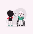 character disabled kids vector image vector image