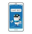 chat bot simulates conversation modern service vector image