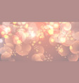 christmas banner with snowflakes and bokeh lights vector image vector image