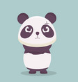 cute panda with angry expression