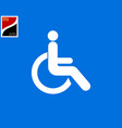 disabled person in wheelchair icon vector image