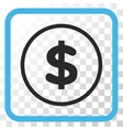 Dollar Icon In a Frame vector image