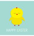 Easter sleeping chiken Baby background Flat design vector image vector image