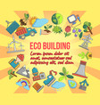 eco building concept banner cartoon style vector image vector image