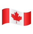 Flag of Canada waving vector image vector image