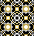 Gold ceramic tile abstract seamless pattern vector image vector image