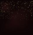gold glitter confetti background golden polka dot vector image