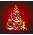 Gold Graphical Christmas tree vector image