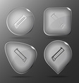 Hacksaw Glass buttons vector image vector image