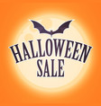 halloween sale design template with moon light and vector image vector image