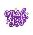 happy mardi gras greeting card vector image vector image