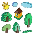 landscape objects vector image vector image