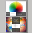 layout of two a4 format vector image vector image