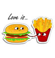 love is in love food sticker vector image