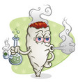 Marijuana joint cartoon character smoking a bong