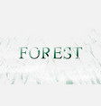 misty foggy mountain landscape with forest low vector image vector image