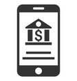 Mobile banking flat icon vector image