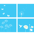 nature set blue vector image vector image