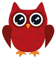 owl red vector image vector image