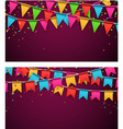 Party celebration backgrounds vector image vector image