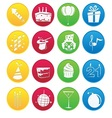 Party icon gradient style vector image vector image