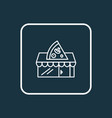 pizzeria icon line symbol premium quality vector image vector image