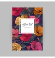 postcard with floral background vector image vector image