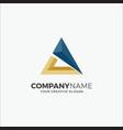printbusiness logo modern triangle vector image