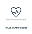 pulse measurement icon outline style thin line vector image vector image