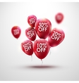 Red Baloons Discount SALE concept for shop market vector image vector image