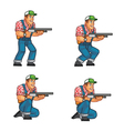 Red Neck Crouching Sprite vector image vector image