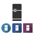 refrigerator icon in different variants with long vector image