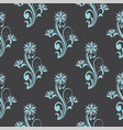 seamless pattern with floral curve decorative vector image