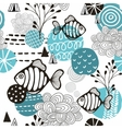 Seamless pattern with l fish in northern sea vector image vector image