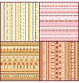 Set of colorful ethnic seamless pattern design vector image vector image