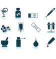 Set of farmacy icons vector image vector image